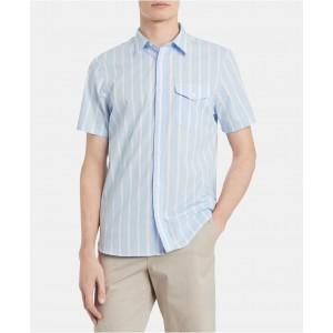 Mens Classic-Fit Yarn-Dyed Stripe Shirt