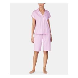 Cotton Top and Bermuda Shorts Pajama Set