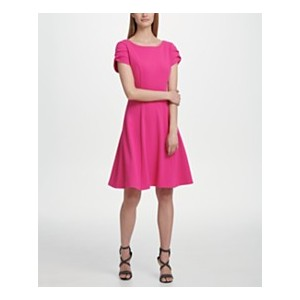 Tulip Sleeve Fit & Flare Dress, Created for Macys