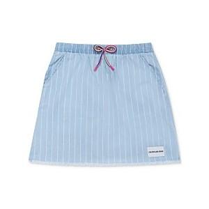 Big Girls Cotton Striped Chambray Skirt