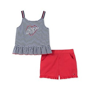 Baby Girls 2-Pc. Tank Top & Shorts Set