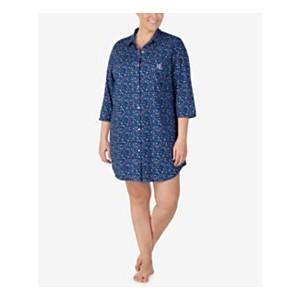 Plus Size Cotton Knit Sleepshirt