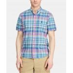 Mens Classic-Fit Cotton Gingham Shirt
