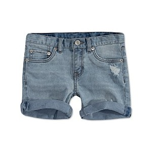 Little Girls Distressed Denim Shorts