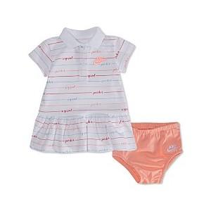 Baby Girls Striped Polo Dress