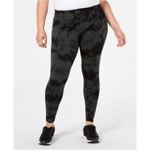 Plus Size Tie-Dyed High-Waist Leggings