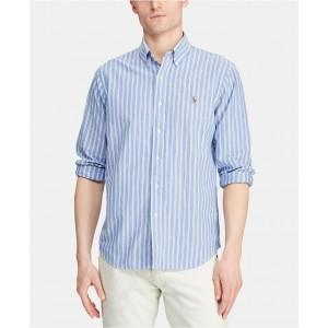 Mens Classic Fit Stripe Oxford Shirt