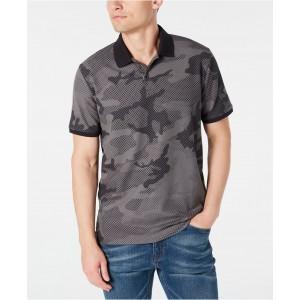 Mens Stretch Performance Camo-Print Pique Polo Shirt