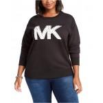 Plus Size Studded Logo Sweatshirt