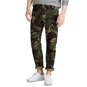 Mens Big & Tall Stretch Cord Five-Pocket Camo Pants