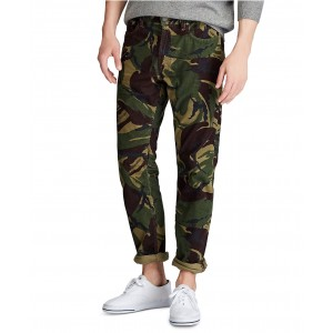 Mens Big & Tall Stretch Cord Five-Pocket Camo Pants