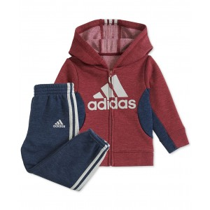 Baby Boys Colorblocked Zip-Up Hoodie & Pants Set