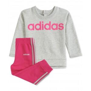 Baby Girls Pullover Sweatshirt & Jogger Pants Set