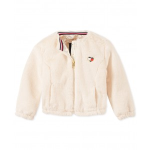 Baby Girls Faux-Fur Bomber Jacket