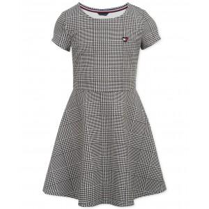 Big Girls Houndstooth-Print Fit & Flare Dress