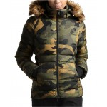 Gotham Camo-Print Faux-Fur-Trim Hooded Coat