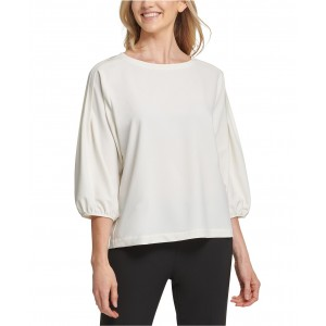 Pleated-Shoulder Top