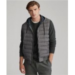 Mens Double-Knit Hooded Vest