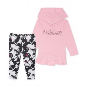 Baby Girls 2-Pc. Jersey Hoodie & Printed Leggings Set