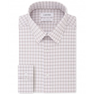 Mens Slim-Fit Stretch Collar Check Dress Shirt, Online Exclusive Created for Macys