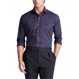 Mens Classic Fit Plaid Cotton Shirt