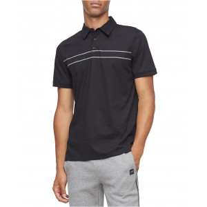 Mens Classic-Fit Engineered Stripe Polo Shirt