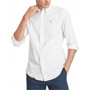 Mens Letter Print Stretch Shirt