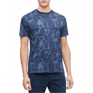Mens Short Sleeve Camo Floral Shirt