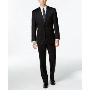 Black Solid Modern-Fit Suit