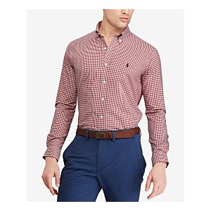 Mens Big & Tall Classic Fit Cotton Gingham Shirt