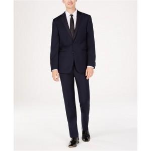 Mens Slim-Fit Navy Twill Wool Tuxedo