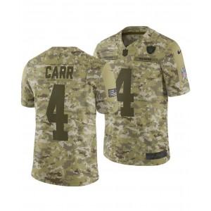 Mens Derek Carr Oakland Raiders Salute To Service Jersey 2018