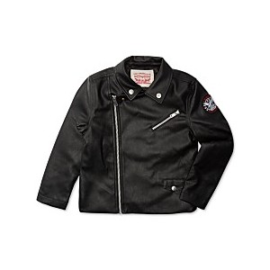 Big Girls Faux Leather Moto Jacket