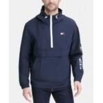 Mens Hooded Half-Zip Jacket