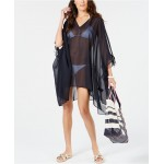 Chiffon Cold-Shoulder Caftan Cover-Up