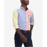 Mens Classic-Fit Foster Colorblocked Stripe Shirt, Created for Macys
