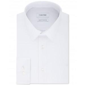 Mens Classic/Regular-Fit Stretch Flex Collar Solid Dress Shirt