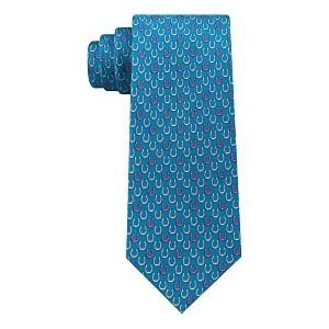 Mens Derby Classic Horseshoe Silk Tie