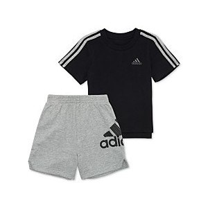 Little Boys 2-Pc. Cotton Logo-Print T-Shirt & Shorts Set