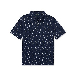 Big Boys Sailboat Featherweight Cotton Polo Shirt