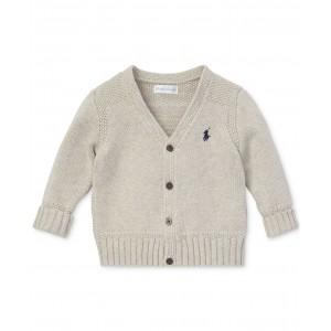 Baby Boys Combed Cotton V-Neck Cardigan