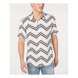 Mens Rogan Chevron Button-Down Shirt