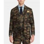 Mens Morgan Camo Tweed Suit Jacket