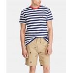 Mens Classic-Fit Striped Pocket T-Shirt