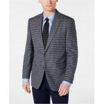 Mens Modern-Fit THFlex Stretch Light Gray/Blue Check Sport Coat