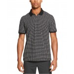 Mens Performance Stretch Square Print Polo Shirt