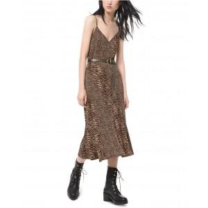 Leopard-Print Camisole Dress