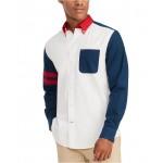 Mens Custom-Fit Zay Pieced Oxford Shirt, Created for Macys