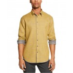 Mens Reversible Solid & Plaid Shirt