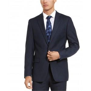Mens X-Fit Slim-Fit Stripe Flannel Suit Jacket